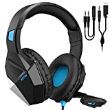 Mpow EG10 Gaming Headset for PS4, PC, Xbox One (254G Lightweight Edition), Wired Gaming Headphones with 3D Surround Sound, Noise Cancelling Mic, 50mm Drivers, Soft material Computer Headset