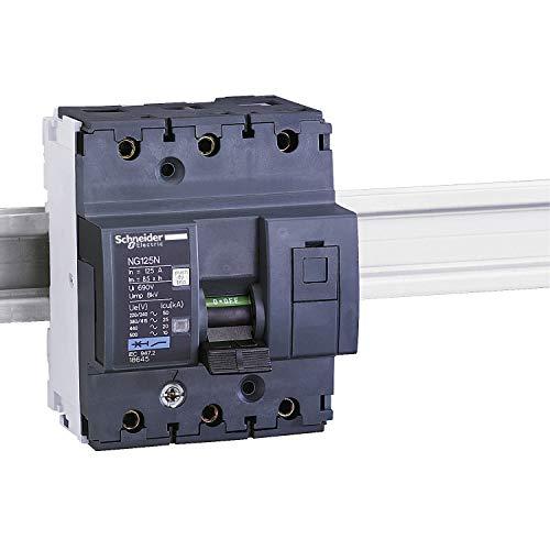 Schneider Electric 18644 Interruptor Automático Magnetotérmico, NG125N, 3P, 125A, Curva C
