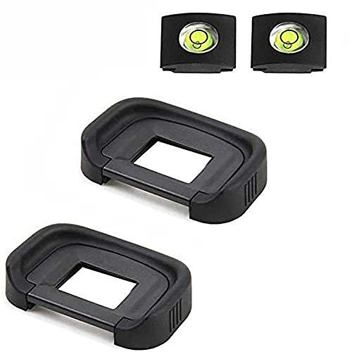 ULBTER 80D Augenmuschel Okular Sucher EB für Canon EOS 90D/80D/70D/60D/50D/40D/20D/5D Mark II/5D Mark I/6D Mark II/6D Mark I Kamera Ersetzt EB Okular, Okularmuschel & Blitzschuhabdeckung-(2+2 Stück)