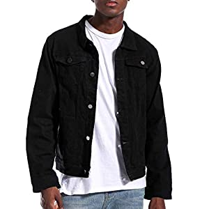 Men's Denim Jacket Slim Trucker Jean Jacket for Men