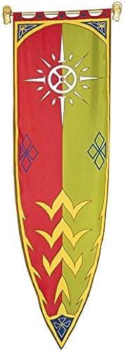 Herr der Ringe - Fahne - Das Banner von Rohan III - 58x200cm   exclusives Set mit Aufn r und geschnitzten Widerk en