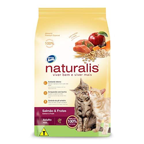 Gatos Salmão e Frutas, Adultos Naturalis Raça Adulto, 10kg