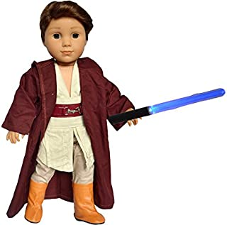 Brittany's My Galactic Outfit Compatible with American Girl Boy Dolls Includes Boots and Light Saber- 18 Inch Doll Clothes