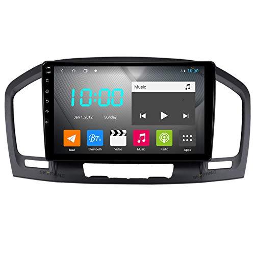 Android 10.0 Estéreo para automóvil Doble Din Compatible con BUICK Regal 2009-2013 Navegación GPS Unidad principal de 9 pulgadas Reproductor multimedia MP5 Receptor de video y radio con 4G WIFI DSP