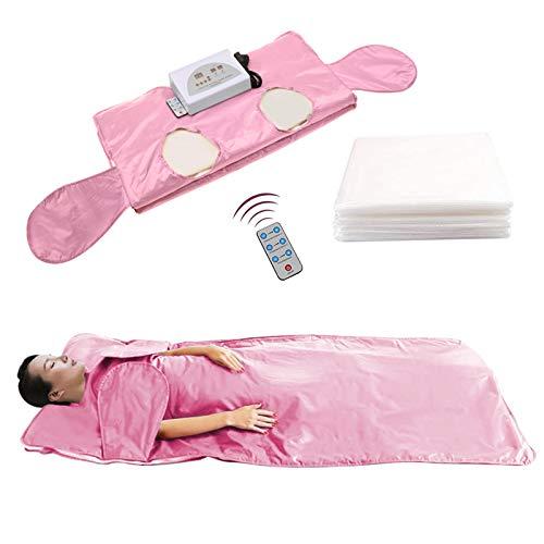 TOPQSC coperta per sauna a infrarossi lontani Perdita di peso Sauna riscaldamento coperta forma del corpo dimagrante fitness brucia grassi Detox Therapy Bellezza macchina per Personal Spa (Rosa)
