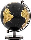 BRUBAKER Globo terráqueode de Acero Inoxidable - Diseño Oro Negro