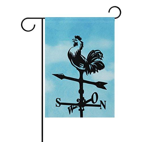 MUMIMI Wetterfahne Hahn Garten Flagge 30,5x 45,7cm Zwei-seitige Hof Dekoration Polyester tolle Bilder Flagge, mehrfarbig, 28x40(in)