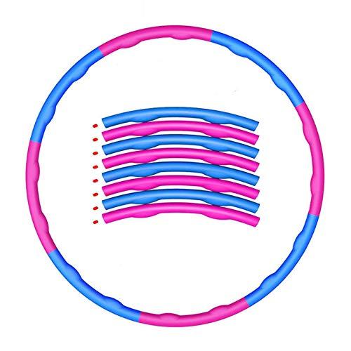ZHAO Hula Hoop-Hula Hoop para Adelgazar Y Masaje para Adultos Y Ni Os, Hula Hoop Extra Ble De 8 Niveles, 1,2 Kg