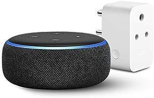 Echo Dot (3rd Gen, Black) with Amazon 6A Smart Plug - Easy Set-Up