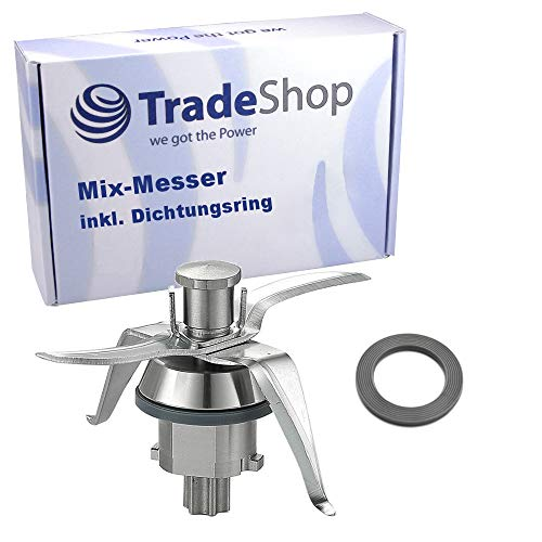Messer Mixmesser mit 4 Klingen für Vorwerk Thermomix TM21 TM 21 Küchenmaschine inkl Dichtung Ultrascharf Edelstahl Thermomix Zubehör/Ersatzteile