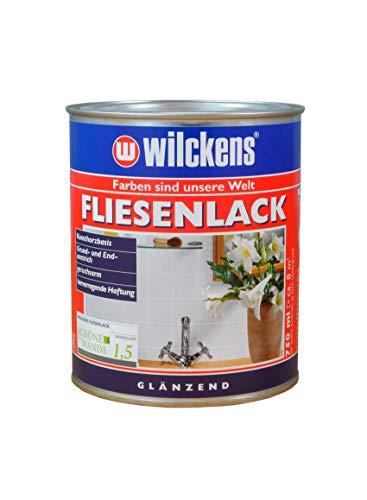 Wilckens Fliesenlack glänzend Weiß 750 ml Lack Speziallack Renovierungsanstrich