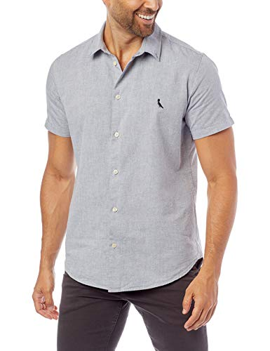 Camisa Manga Curta Oxford Color, Reserva, Masculino, Marinho, M