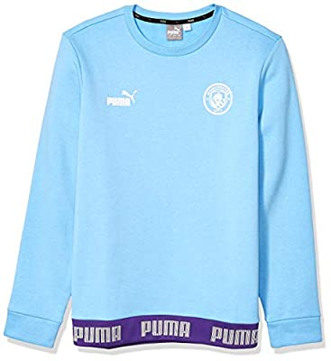 PUMA Mens International Soccer FtblCulture Sweater Manchester City, Team Light Blue/PUMA White, X-Large