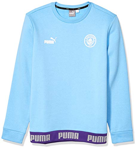 PUMA Herren Manchester City MCFC FtblCulture Sweater Pullover, Team Light Bluepuma White, Medium