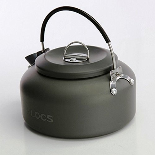 Alocs 1.4L Portable Ultralight Outdoor Hiking Camping Picnic Water Kettle Teapot Coffee Pot Outdoor Appliances Water Coffee Tea Pot (CW-K03 1.4L)