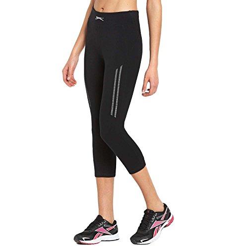 Slazenger - Pantacourt de sport/course/gym - femme - taille haute/style legging - Noir - S