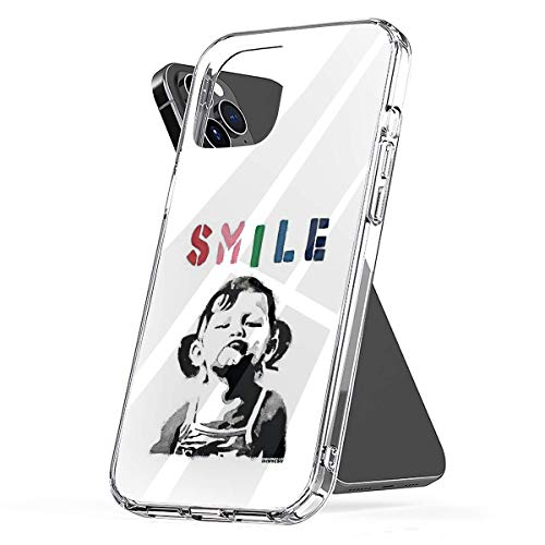 Phone Case Banksy Graffiti Quote Smile with Girl Not Smiling Girl Power Resistance HD Compatible with iPhone 6 6s 7 8 X XS XR 11 Pro Max SE 2020 Samsung Galaxy Drop Waterproof Accessories