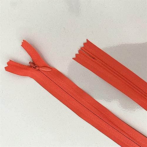 Zyilei-remplazo Cremallera 10pcs 3# Cremallera Oculta, Anillo de Cremallera de Costura de Nylon, 20-60 cm (8-24 Pulgadas) Proceso de Costura a Medida DIY, Amplia Gama de Aplicaciones