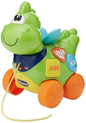 Chicco 00069033000000bunt Spielzeug-Ziehen–Spielzeug Drag (Mehrfarbig, 9Monat (), 36Monat (), Kind, Kinder/Mädchen, Dragon)