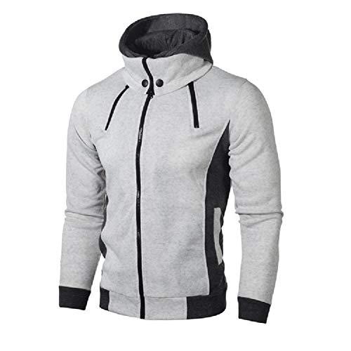 SHANGYI Jacket Herenjas met ritssluiting Herenjas Herenjas en Winter Casual Fleece Jas Sjaalkraag Capuchon Herenjack
