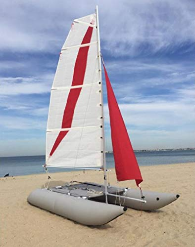 Buy Bargain Inflatable 1.2mm PVC 15ft. 4 Person Portable Sailboat Windsurfing Catamaran New