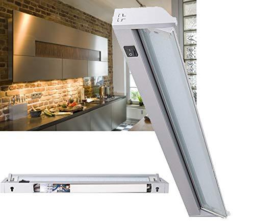 LED Unterbauleuchte 58 cm schwenkbar Alu 10 W / 970 Lumen, 230V Direktanschluss über Klemme