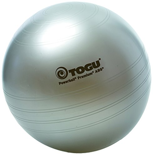 Togu Unisex– Erwachsene Powerball Premium ABS Gymnastikball, Silber, 75 cm