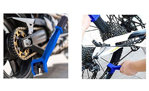 Eva Shop® Premium Kettenbürste Fahrrad Reinigungsbürste Kettenreiniger Fahrradkettenreiniger für Mountainbike MTB, Rennrad, Trekking, E Bike und Pedelec Fahrradpflege Fahrradbürste - Versand aus BRD