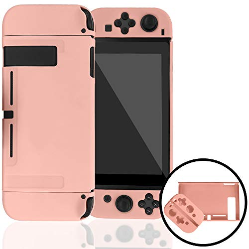 Dockable Case Compatible with Nintendo Switch,Protective Cover Case Compatible with Nintendo Switch and Joy-Con Controllers(Pink)