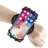 Wristband Phone Holder for iPhone 12/12 Pro Max/11/X/8 Plus/8/7/6 Plus, Sports Wristband for Androids, Samsung Galaxy, All 4''-6.5''Phones, 360°Rotatable with Key Holder
