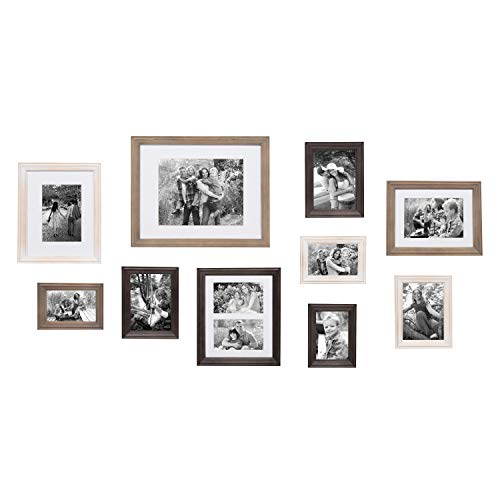 Kate and Laurel Bordeaux Gallery Wall Kit, Set of 10 with Assorted...