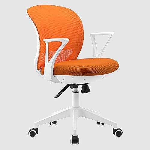 Sillas GQIANG Oficina, 360 ° Giratorio Oficina, Ergonómica Volver, De Rebote Cómodo, Ahorro De Espacio (Color : Orange)