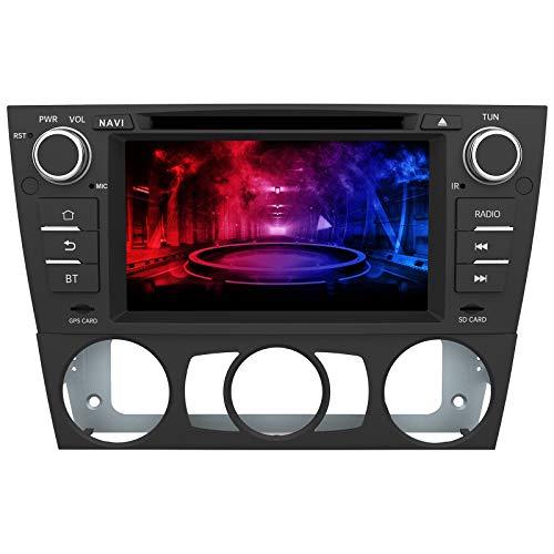 AWESAFE Autoradio mit Navi für BMW 3er E90 E91 E92 E93 Unterstützt DAB+ CD DVD Bluetooth Lenkradsteuerung MirrorLink 2 Din RDS Radio
