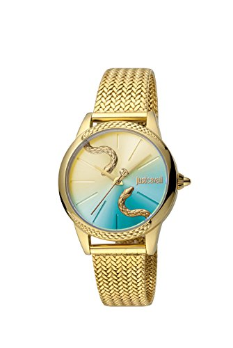Just Cavalli Damen Analog Quarz Uhr mit Edelstahl Armband JC1L029M0095
