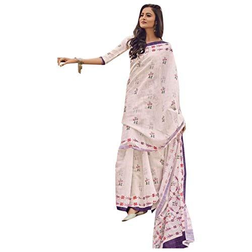 Abito di Lino Indiano Pakistano Stampato Rosa asiatico Ready Made Salwar Kameez 2018