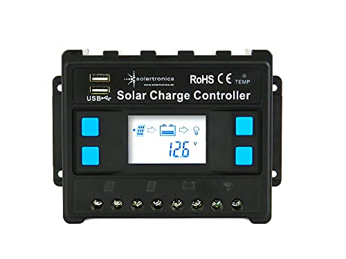 solartronics 30A Laderegler 12V/24V blau Photovoltaik Solarladeregler Solar PV