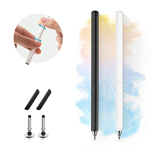 N/P Stylus Pens for Touch Screens, Universal High Sensitive & Precision Capacitive Disc Tip Touch Screen Pen Stylus for iPhone/iPad/Pro/Samsung/Galaxy/Tablet/Kindle/iWatch