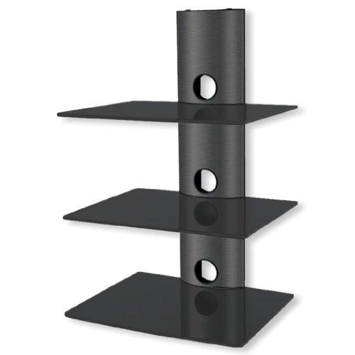 Multimedia Wandregal DRS 103 - Belastbarkeit max 10kg/Boden - schwarz