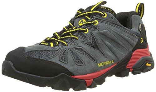 Merrell Capra Gore-Tex Herren Trekking- & Wanderhalbschuhe, Grau (Granite), 41.5 EU