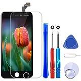 Brinonac Pantalla para iPhone 6, 4.7' Táctil LCD de Repuesto Ensamblaje de Marco Digitalizador con Herramienta de reparación y Protector de Pantalla (Negro)