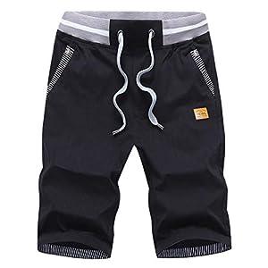 Men's Shorts Casual Classic Fit Drawstring Summer Beach Shorts