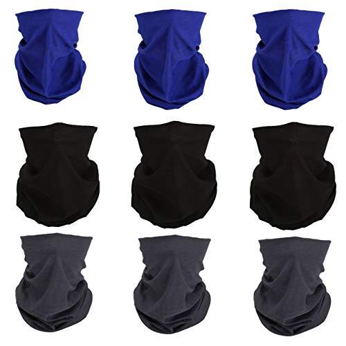 ACBungji 7/8/9/10 Stück Multifunktionstuch Gesichtsmaske Motorradmaske Sturmmaske Maskewboard Paintball Fahrrad Bergsteigen Trekking Skateboarden Angeln