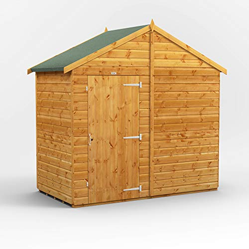POWER | 4x8 Windowless Apex Wooden Garden Shed | Size 4 x 8 | Super Fast Delivery or Pick your own day