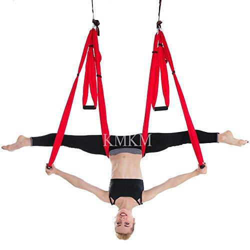 Bureze Balançoire de yoga aérienne trapèze anti-gravité Sangles de décompression en tissu haute résistance