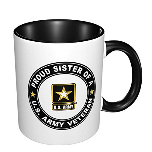Taza de doble color resistente a altas temperaturas, veterano del ejército de...