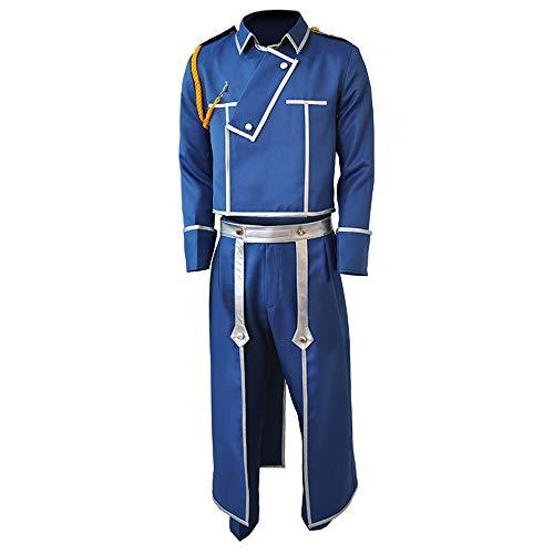 6PCS Anime Fullmetal Alchemist Roy Mustang Cosplay Kostüm Halloween Karneval Mittelalter Ritter Academia Uniform Windbreaker Anzüge für Frauen Männer Full Set Hohe Qualität