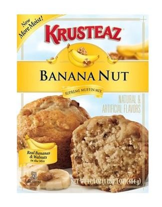 Krusteaz Banana Nut Muffin Mix (Pack of 2)