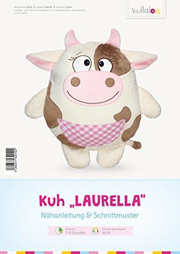 kullaloo - Schnittmuster & Nähanleitung für Stofftier / Kissen Kuh Laurella