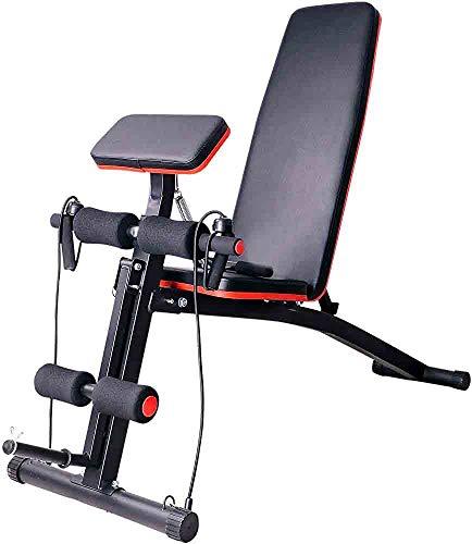 Pieghevole attrezzature per il fitness letto di sollevamento pesi per i muscoli addominali, media e bassa della schiena più bassa per la casa, club o stadio,Black
