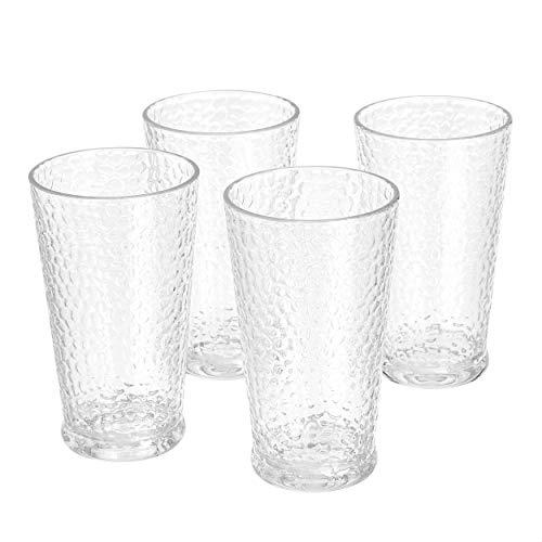 Beer And Cocktail Set Of 4 Juice JoyJolt Stella Lead Free Crystal Highball Glass 14.2-Ounce Barware Collins Tumbler Drinking Glasses For Water